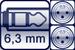 Cable jack 3p. 6,3 mm<br>2x XLR male