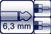 Plug 2p. 6,3 mm<br>2x Cinch