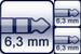 Plug 3p. 6,3 mm right-angle<br>2x Plug 2p. 6,3 mm right-angle