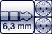 Plug 3p. 6,3 mm<br>2x XLR 3p. male
