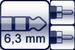 Plug 3p. 6,3 mm<br>2x Cinch