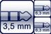 Plug 3p. 3,5 mm<br>2x Plug 2p. 6,3 mm
