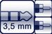 Plug 3p. 3,5 mm<br>2x Cinch