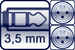 Cable jack 3p. 3,5 mm<br>2x XLR male