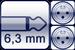 Klinke 2p. 6,3mm<br>2x XLR 3p. male