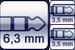 Plug 3p. 6,3 mm<br>2x Cable Jack 3p. 3,5 mm