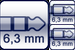 Plug 3p. 6,3 mm<br>2x Cable jack 2p. 6,3mm