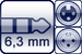 Plug 3p. 6,3mm<br>XLR 3p. female/male