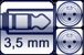 Cable jack 3p. 3,5 mm<br>2x XLR 3p. male