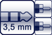 Mini-Winkel-Klinke 3p.<br>2x Cinch