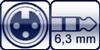 Plug 3p. 6,3 mm right-angle<br>XLR 3p. female right-angle
